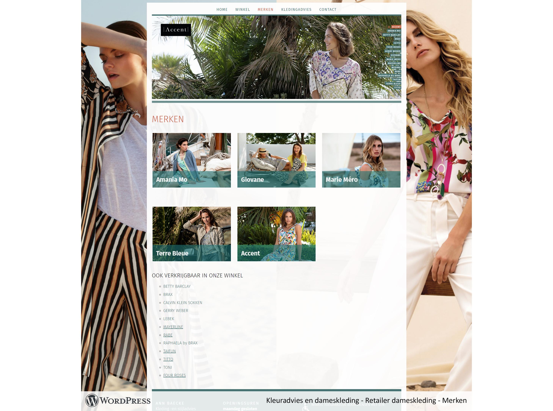 WordPress website voor kledingwinkel Belgische damesmode