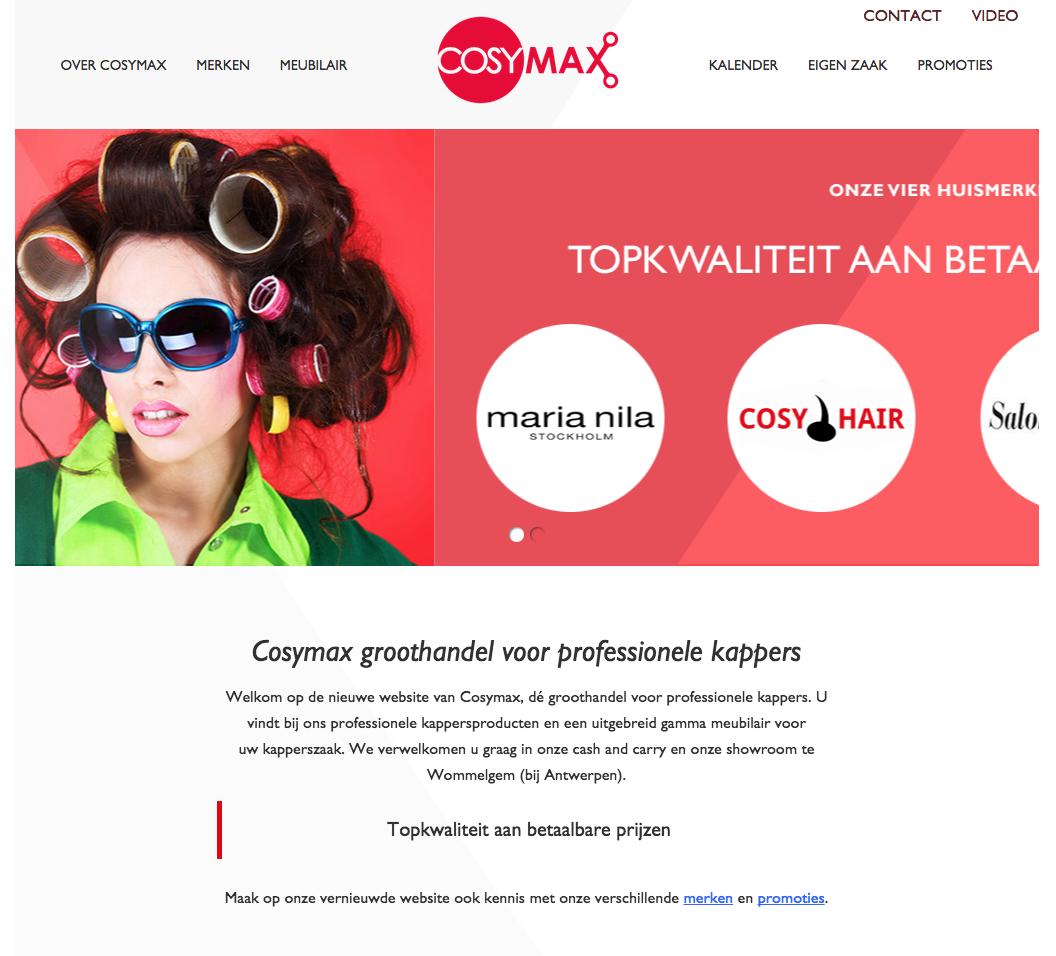WordPress website voor groothandel kappersproducten