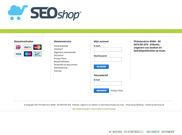 Lightspeed (SEOshop) webwinkel voor uitgeverij