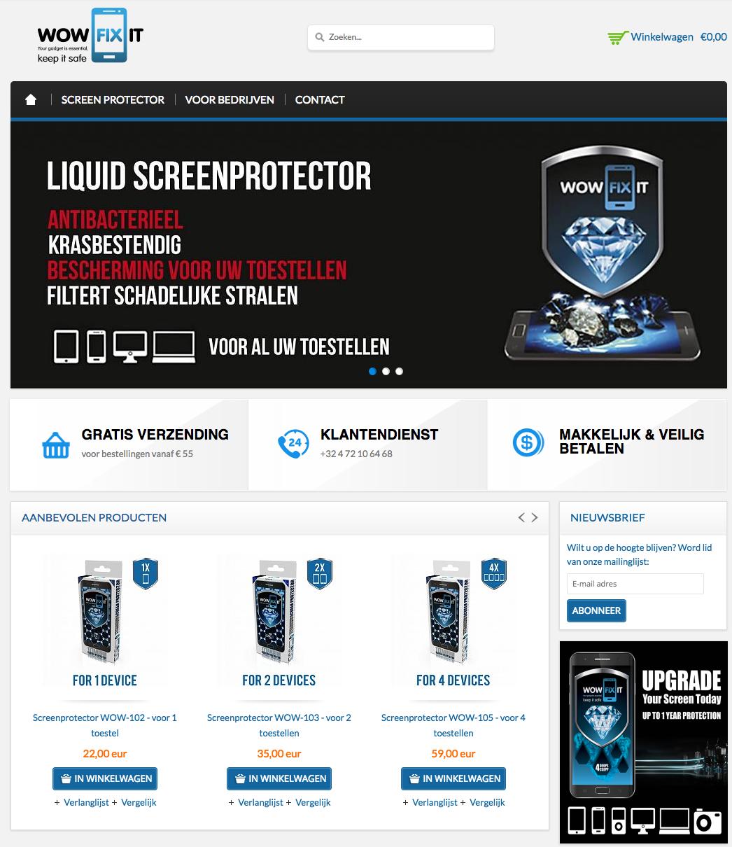 Lightspeed (SEOshop) e-commerce voor smartphone accessoires