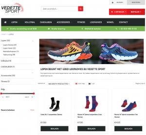 Lightspeed e-commerce voor sportwinkel Vedette Sport