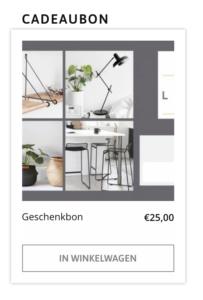 voucher app op webshop living design