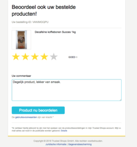 Trusted Shops module PrestaShop review product klant