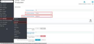 sorteervolgorde van producten PrestaShop webshop optimalisatie
