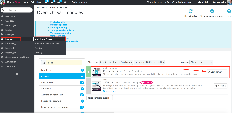 PrestaShop Product Media Module video webshop website