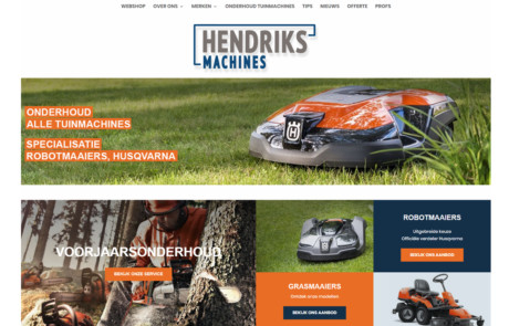 Hendriksmachines homepage closer PORTFOLIO