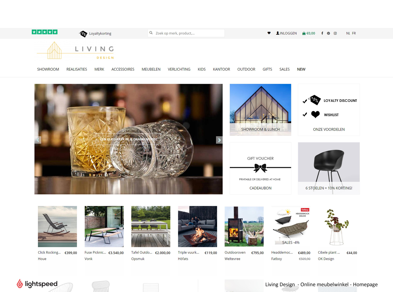 Lightspeed eCommerce voor design webwinkel