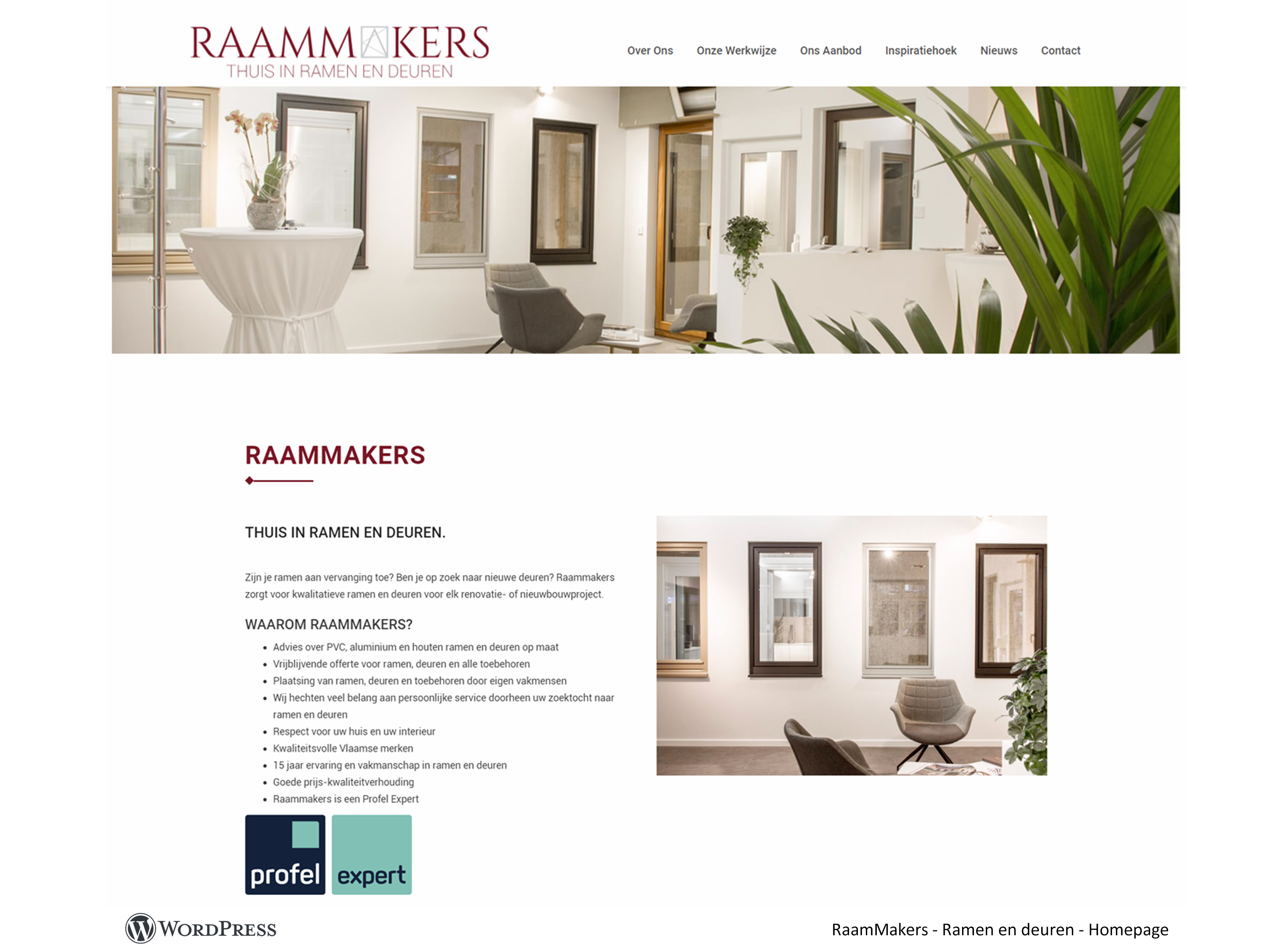 WordPress website ramen & deuren