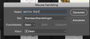 Batches in Photoshop design optimalisatie marketing howto