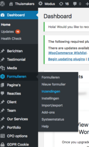 Gravity Forms voor WordPress inzendingen formulieren WP optimalisatie