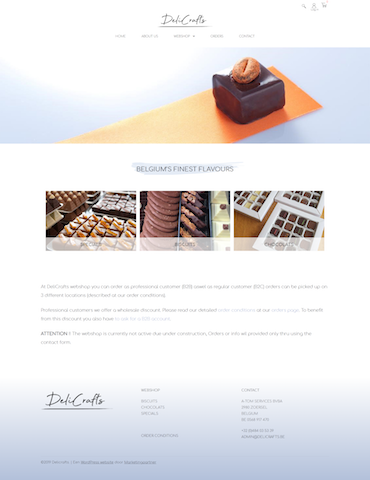WordPress website Delicrafts