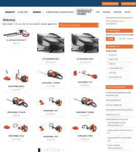 Webshop Woocommerce robotmaaiers