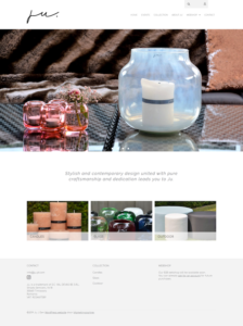 Webdesign B2B webshop kmo JU glaswerk