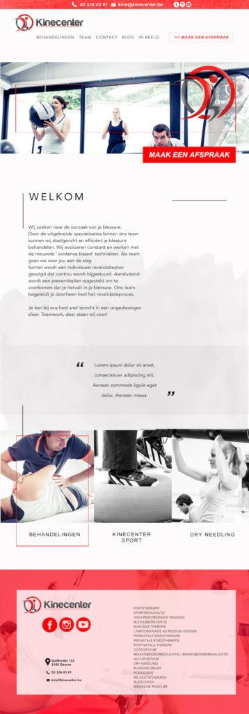Webdesign op maat voor Kinecenter Deurne
