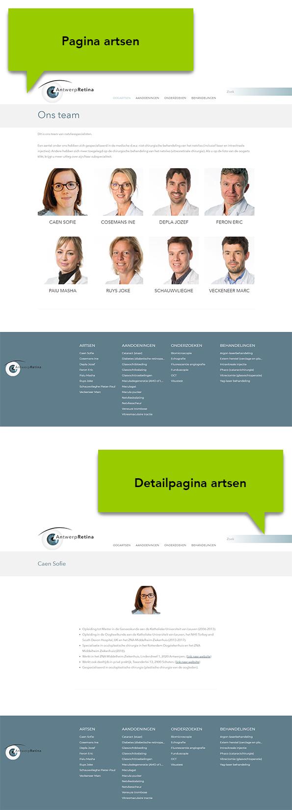 WordPress website oogartsenpraktijk