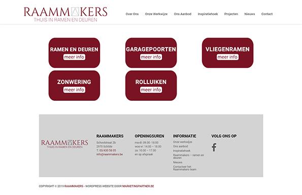 WordPress website aannemer ramen en deuren