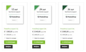 technische support PrestaShop