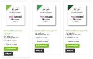 technische support WordPress Woocommerce