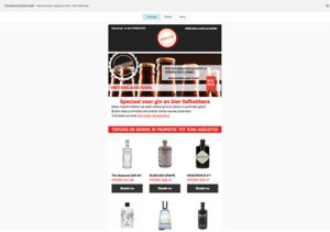 Drinksstore Nieuwsbrief Template