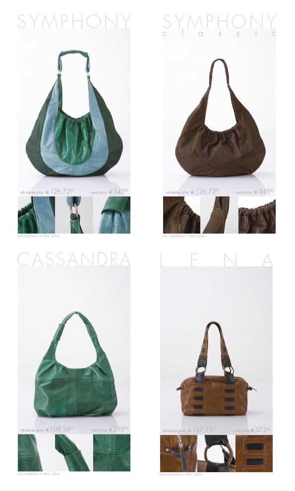 SB collectie leren handtassen voorgesteld