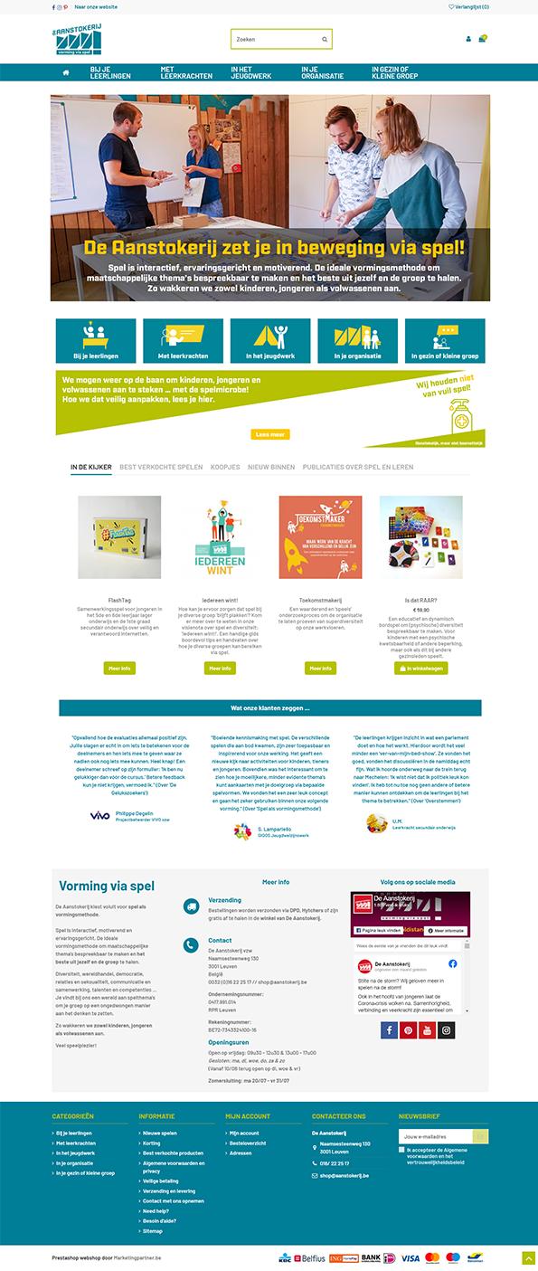 Aanstokerij homepage