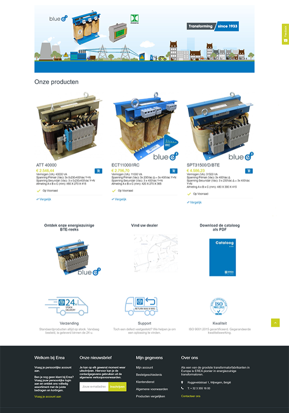 B2B webshop elektriciteit