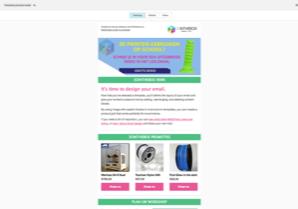 Nieuwsbrief 3DIB met mailchimp